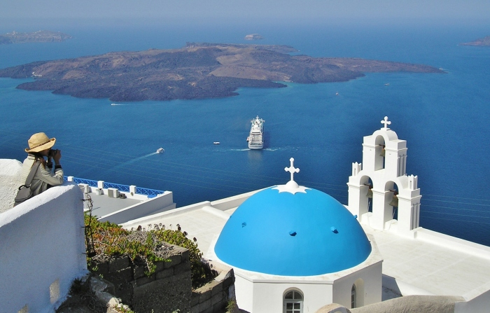 santorini travel adrian caffery