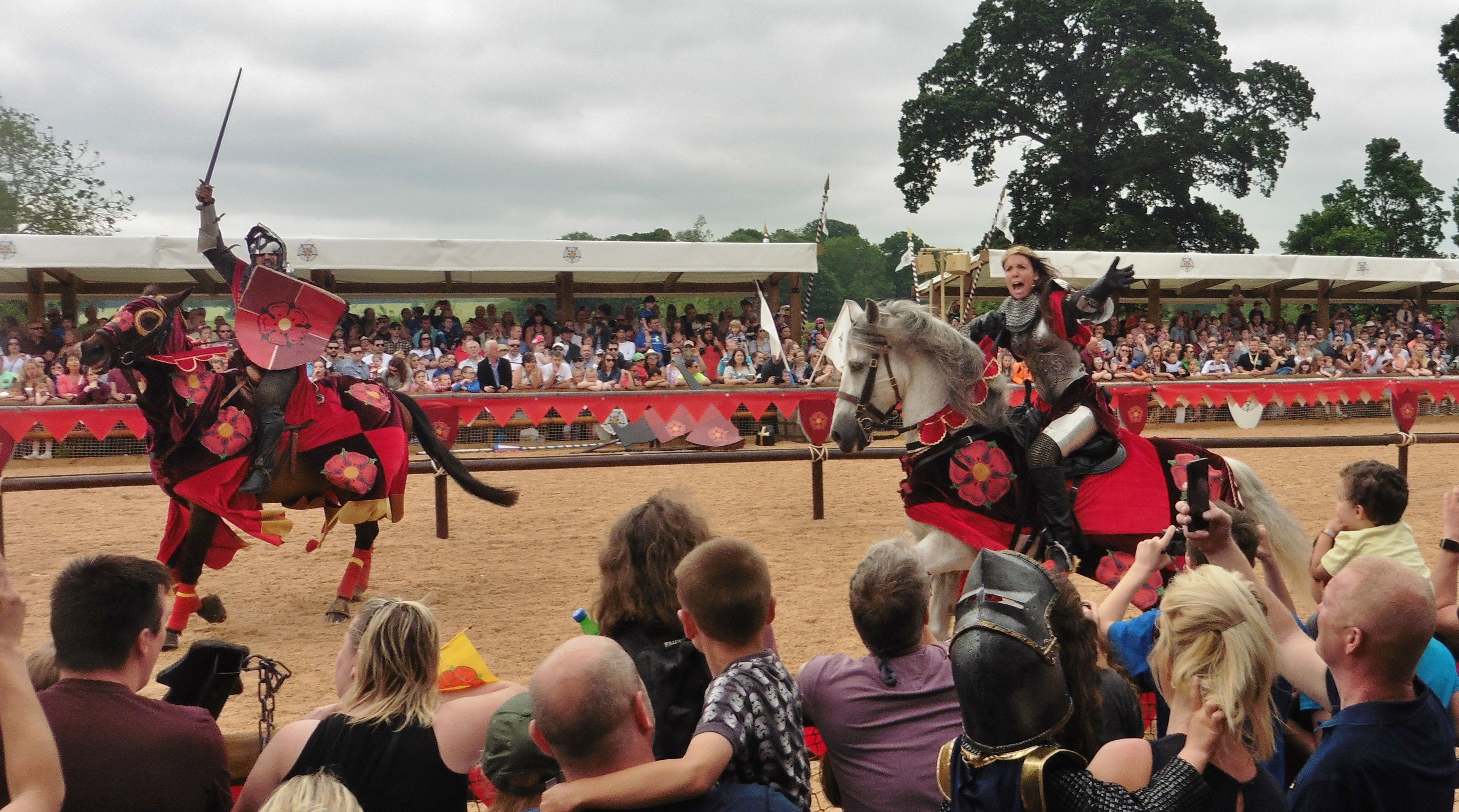 War of the Roses show at Warwick Castle May 27 2017