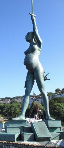 Damien Hirst's 'Verity' in Ilfracombe