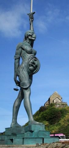 Damien Hirst's 'Verity' in Ilfracombe